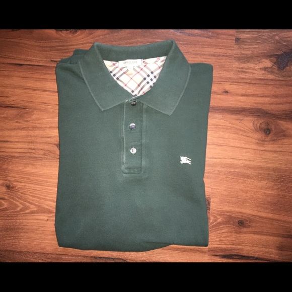d6c90d2b Burberry Shirts | Longsleeve Cotton Pique Polo Shirt | Poshmark